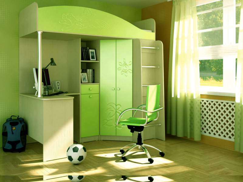 Set of children's furniture for small apartments
