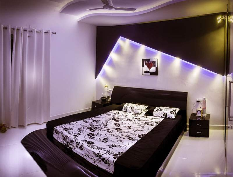 Bedroom with backlight