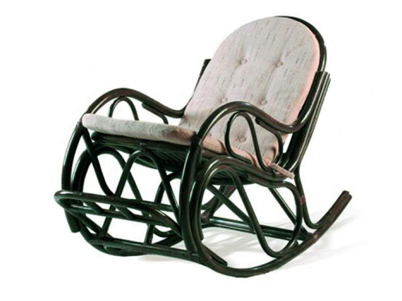 Rocking chair made of rattan